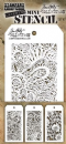 MTHS047 Stampers Anonymous Tim Holtz Layering Stencil - Mini Stencil Set #47